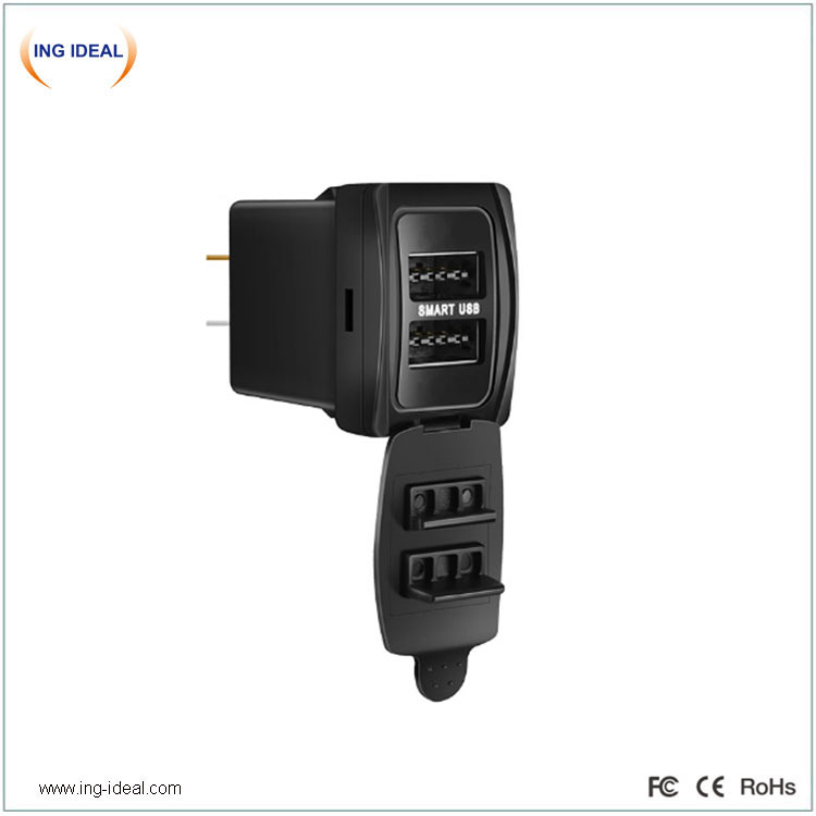3.1A Dual USB Double-Sided Port Original Installation For Toyota Car Bus Charger