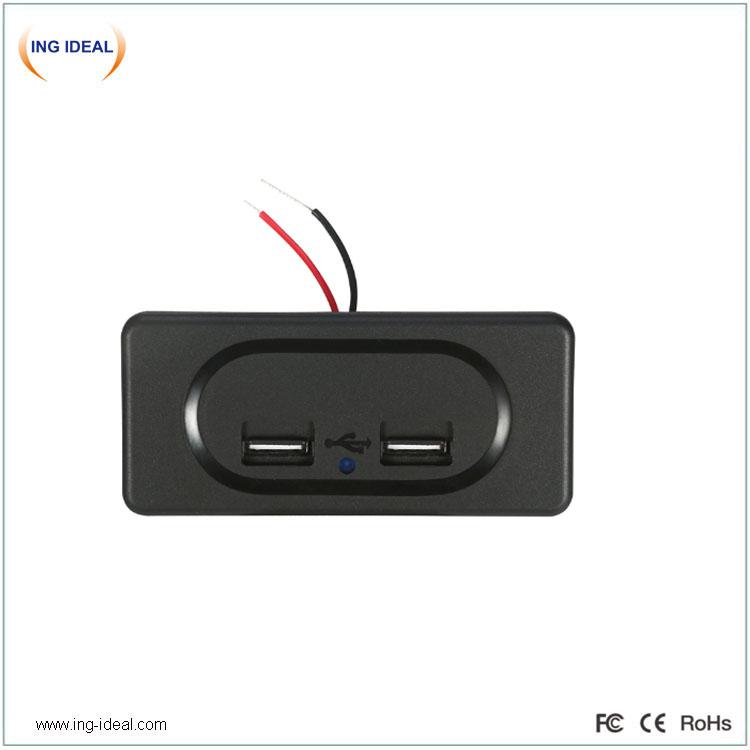 Bussiistme automaatse kaanega 3.1A USB-laadija