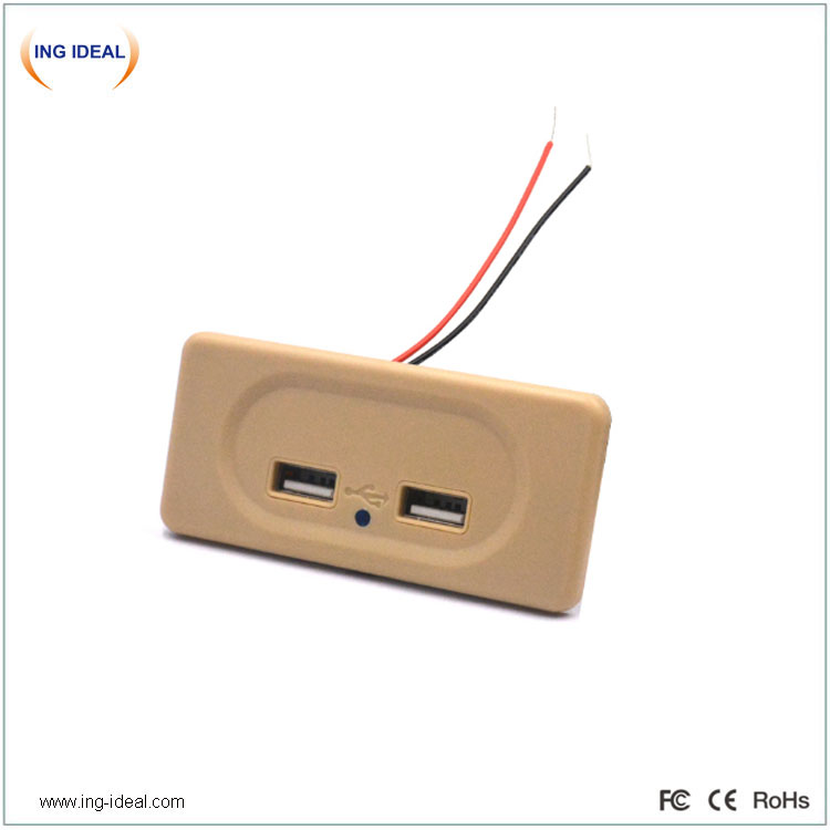 Bus Seat Flush Mount Universal Usb Charger Auto Back Up