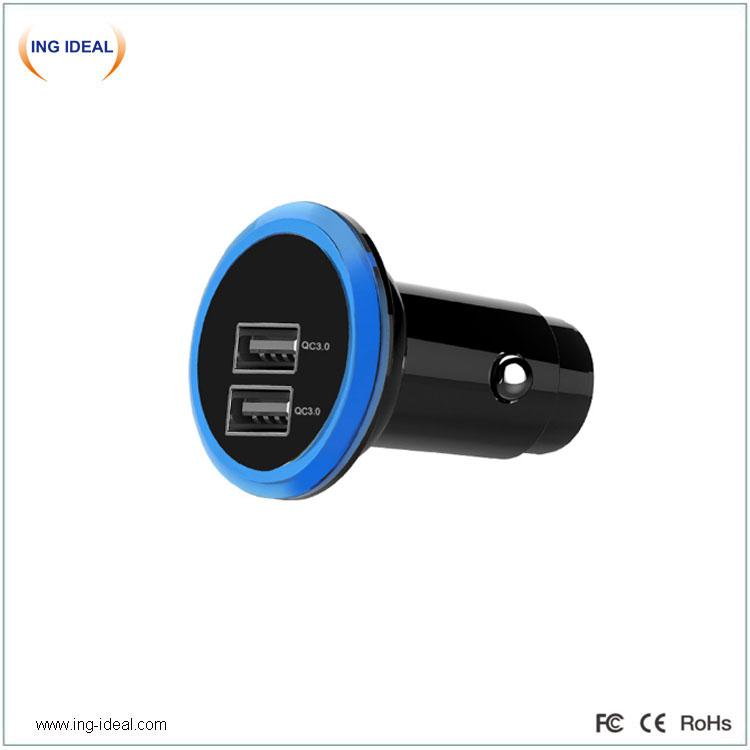 Autolaadija QC 3.0 kahe pordiga