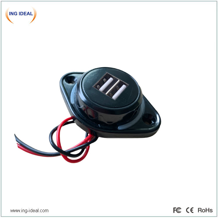 Easy Install Flat Type Usb Charger Auto For Seat Mount