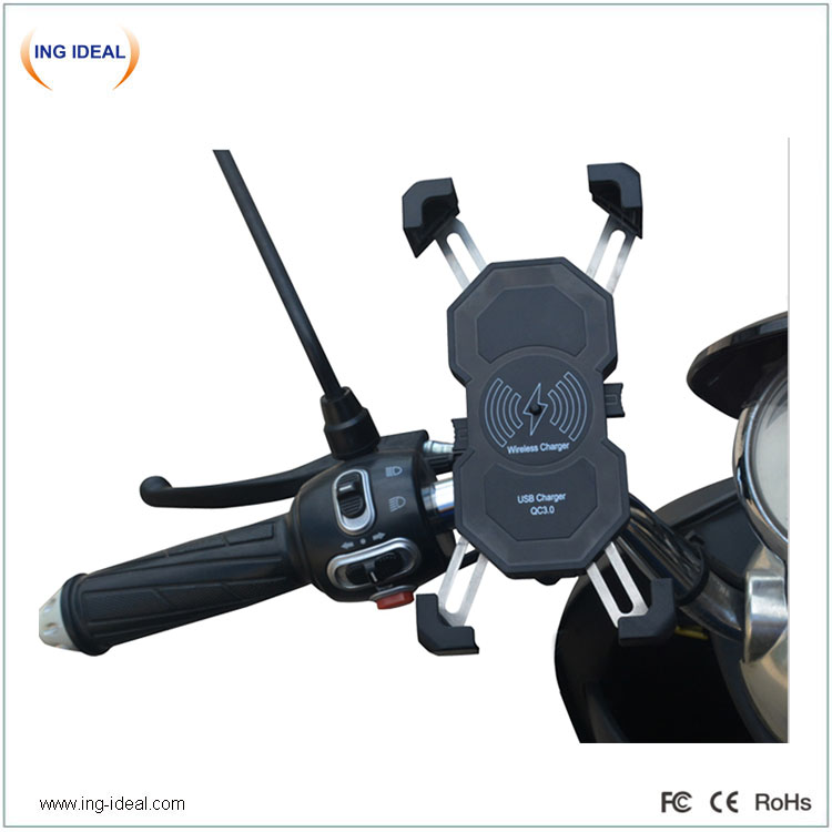 Fast Motorcycle Wireless Charger With Phone Holder