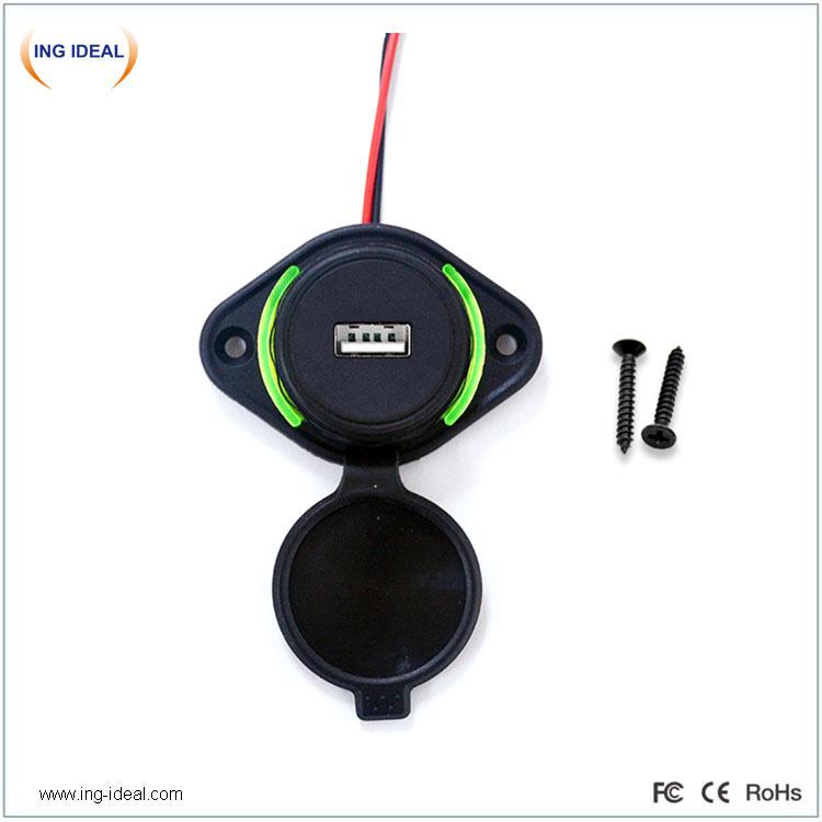 Flat Mount 12v 24V Bus USB Charger Socket