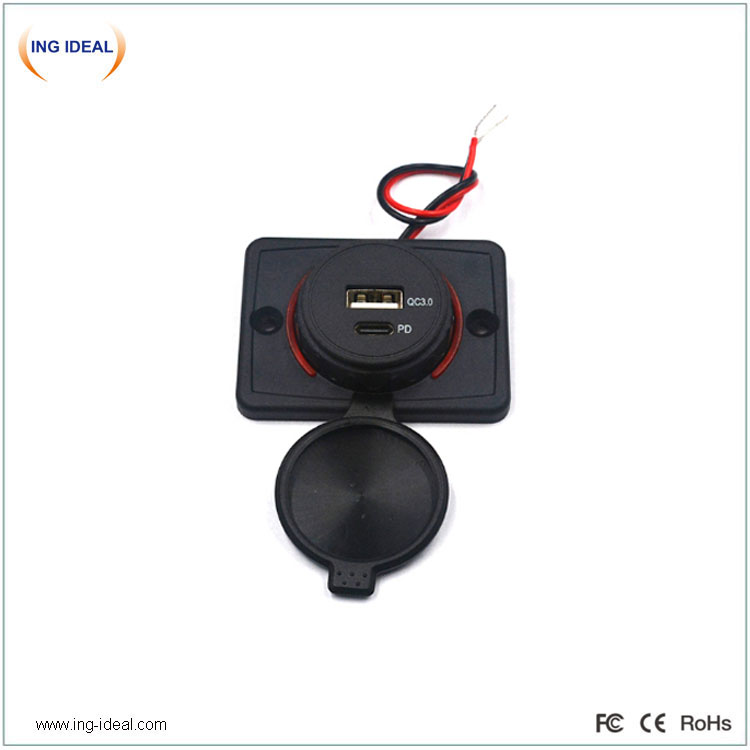 Flat Type Bus Pd Qc Car Charger