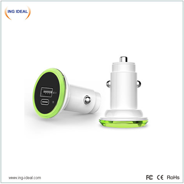 PD QC Car Charger For Fast Charging