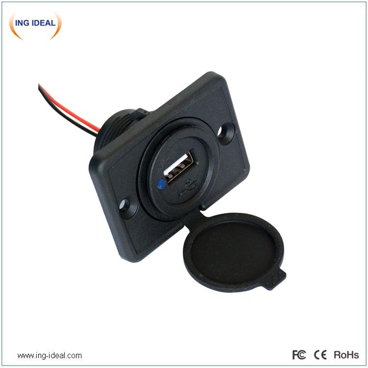 Single Port USB 2.4A 12V-24V Universal Car Socket USB Adapter Charger