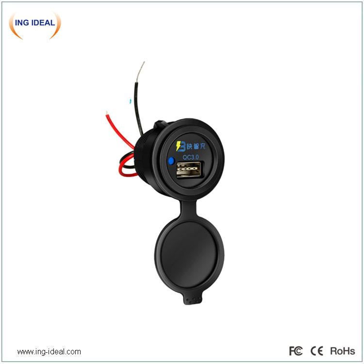 Single USB Bus Car Charger Qc 3.0 With Smart USB