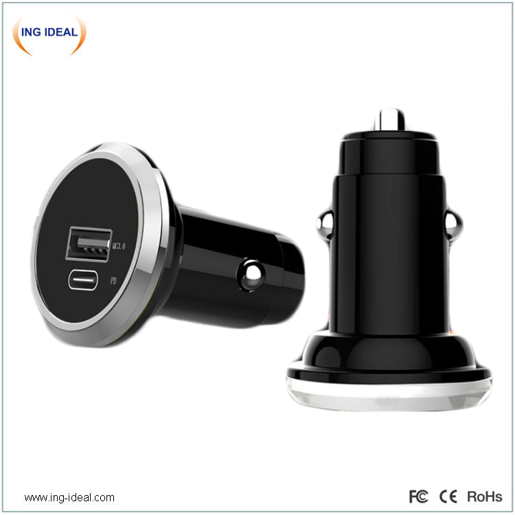 Type C QC3.0 Car Charger For Smart Phone