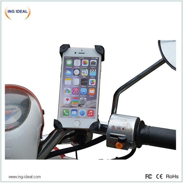 Vodotěsná USB nabíječka na motocykl s držákem telefonu