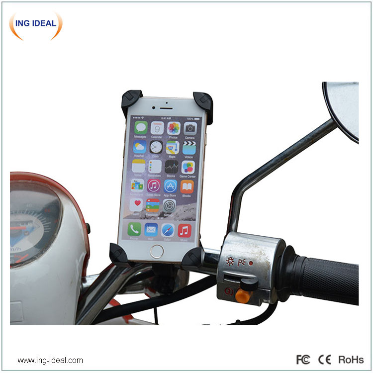 Waterproof USB Motorcycle Charger With Phone Holder