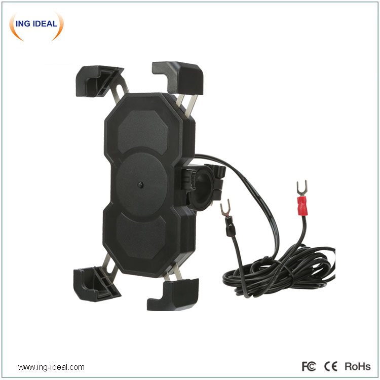 Waterproof USB Power Charger For Bike With Phone Holder