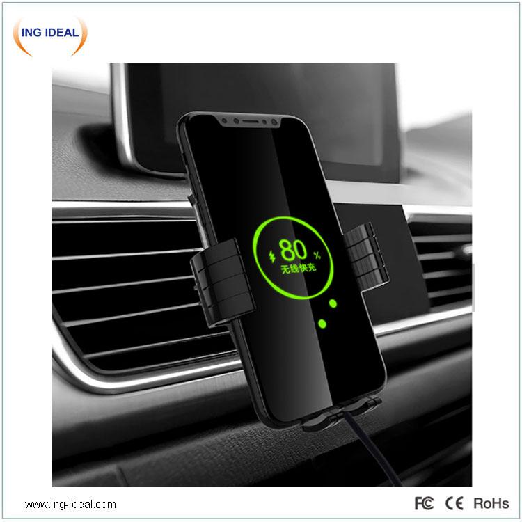 Juhtmevaba laadija telefoni hoidjaga autole