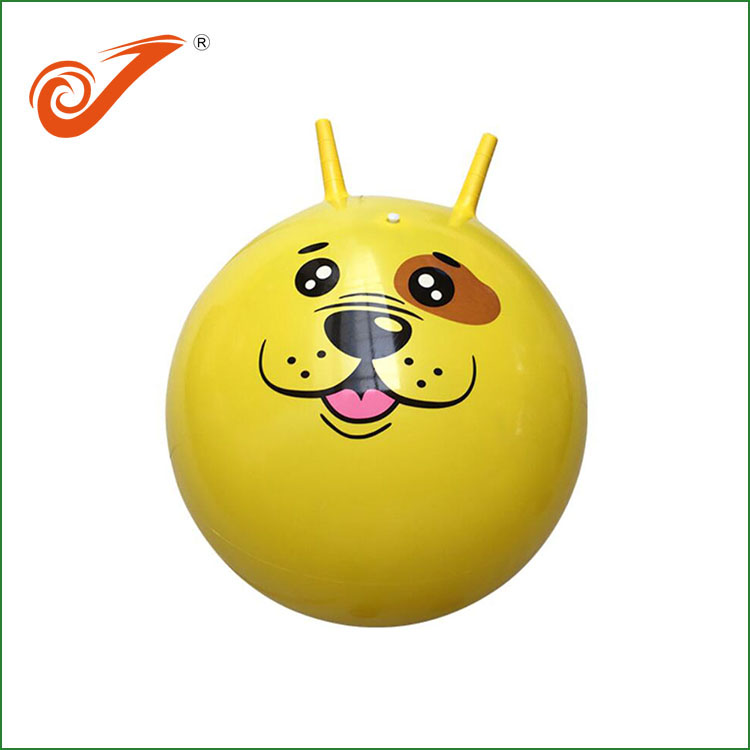 PVC Colorful Inflatable Sheep Horn Jumping Toy Ball