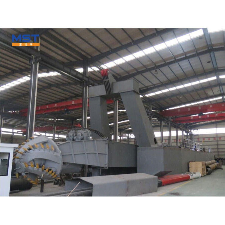 Fully Hydraulic Cutter Head 24 Suction Cutter Dredger Barge