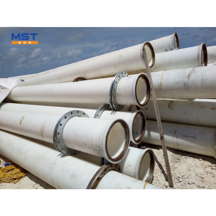 Hundred Percent Raw Material HDPE Pipeline For Sand Discharging