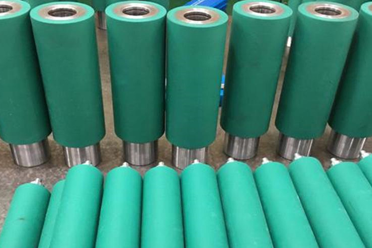 What are the important physical properties of PU rubber rollers?