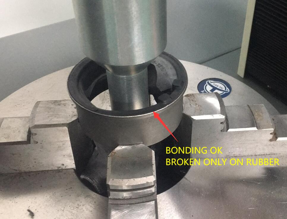 What should be done when vulcanized rubber is bonded to metal?