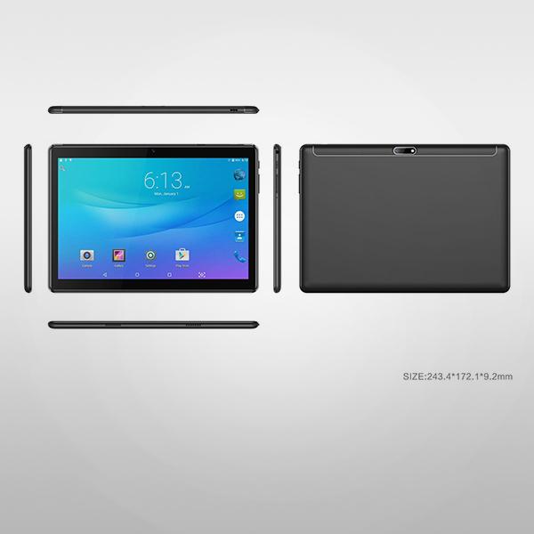 10,1 hazbeteko MTK6580 CPU Android 3G Tablet PC