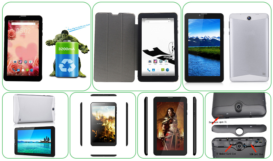 7 Inch MTK6580 CPU Android 3G Tablet PC