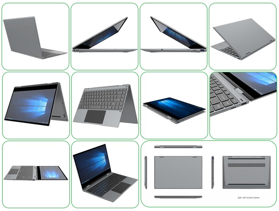 11.6 Inch Yoga Like Leihoak Intel Laptop