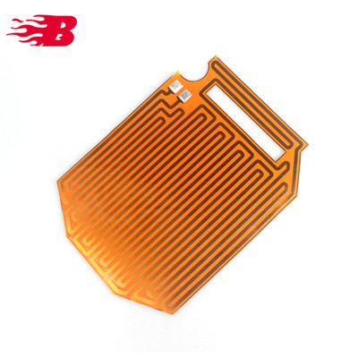12V 24V Electric flexible kapton thin polyimide Heating film heater for Car Mirror