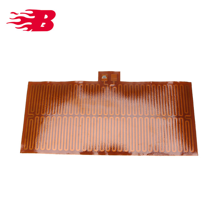 Yellow Customized Electric Heating Element Polyimide Film Heater