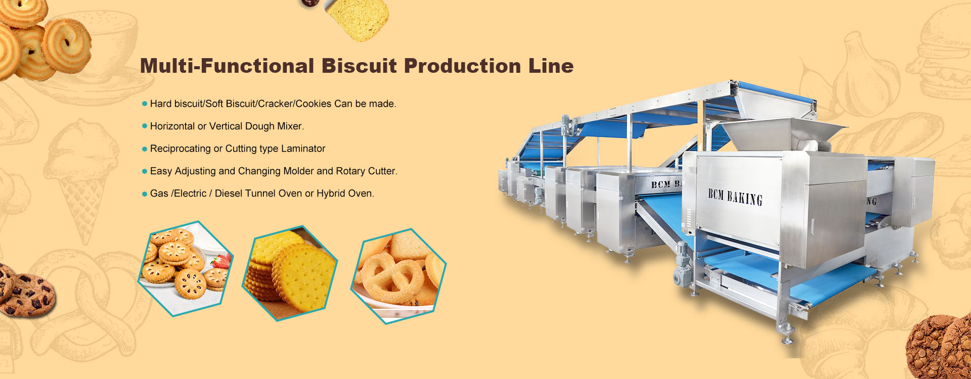 Mulyi-Functional Biscuit Peoduction Line