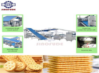 The technological process and characteristics of the mechanical equipment of the soda biscuit processing line