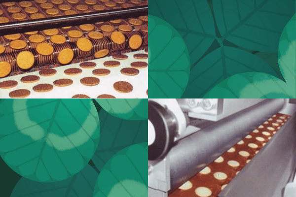 Cookie flipping machine