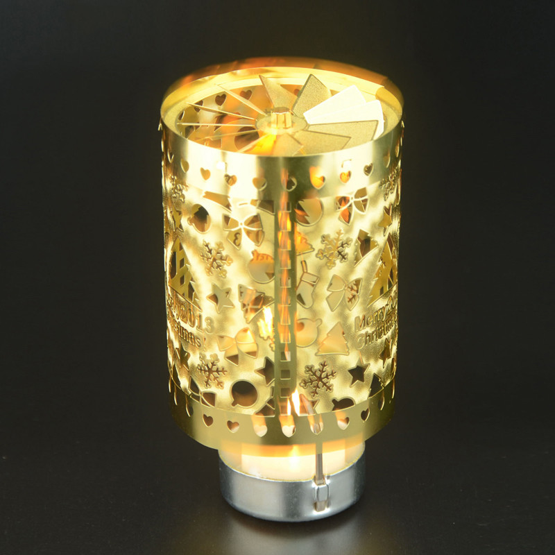Cylinder Rotary Candle Holder