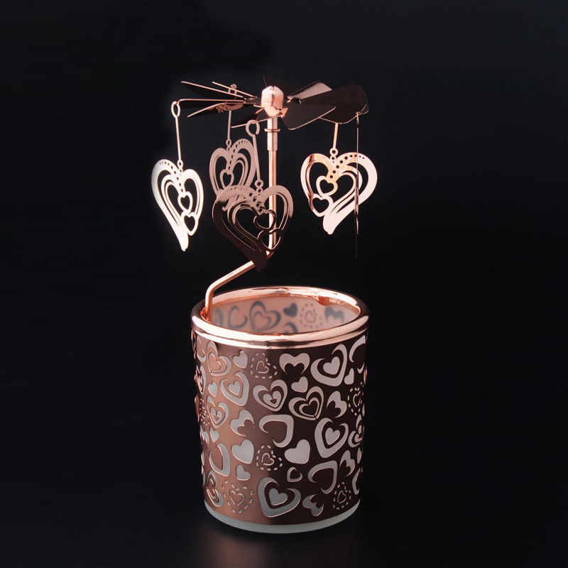 Love Carousel Rotary Candle Holder