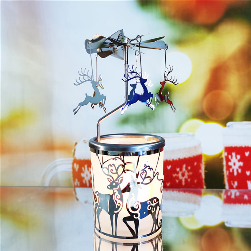 Reindeer Rotary Candle Holder