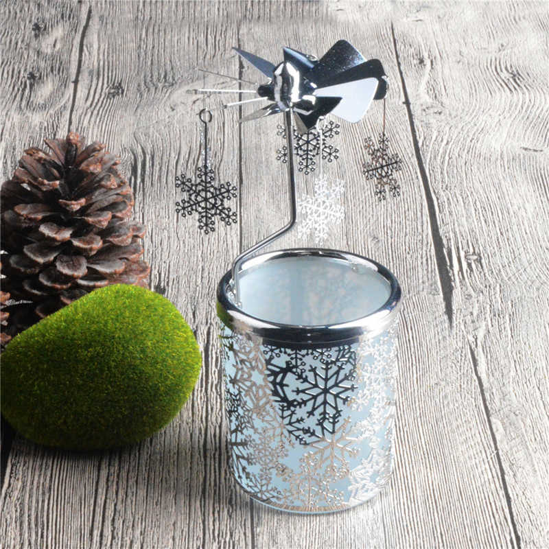Snowflake Rotary Candle Holder