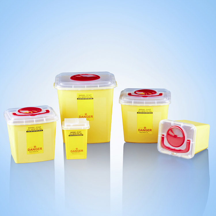 What is a sharps container?