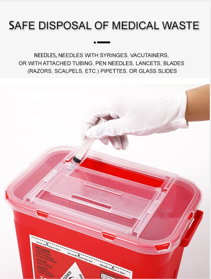 Square-Shaped Sharps Container