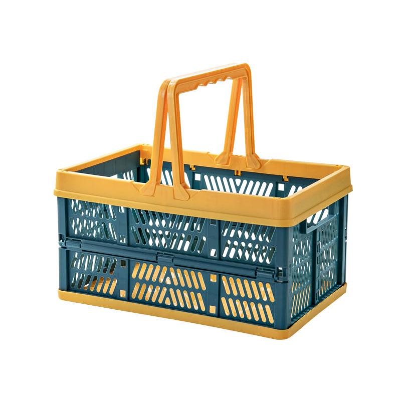Folding Plastic Container Storage Basket
