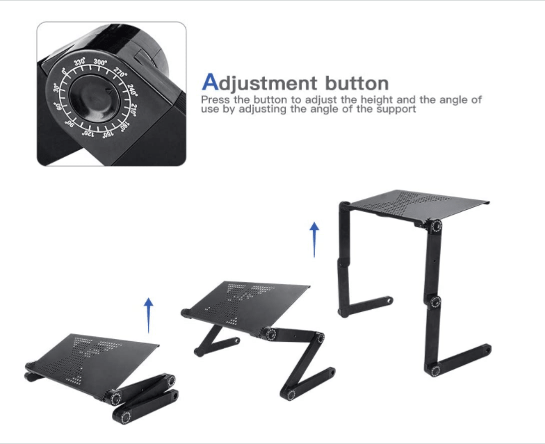Household Adjustable Laptop Stand Table for Bed Recliner Sofa