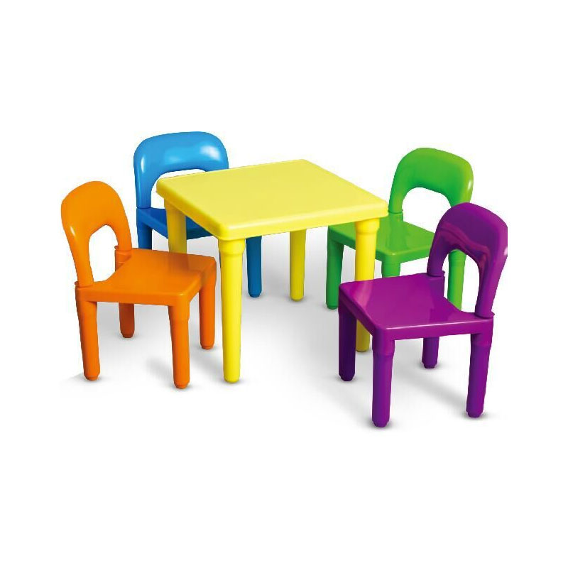 Household Folding Lightweight Children Furniture Table and 4 Chairs Set