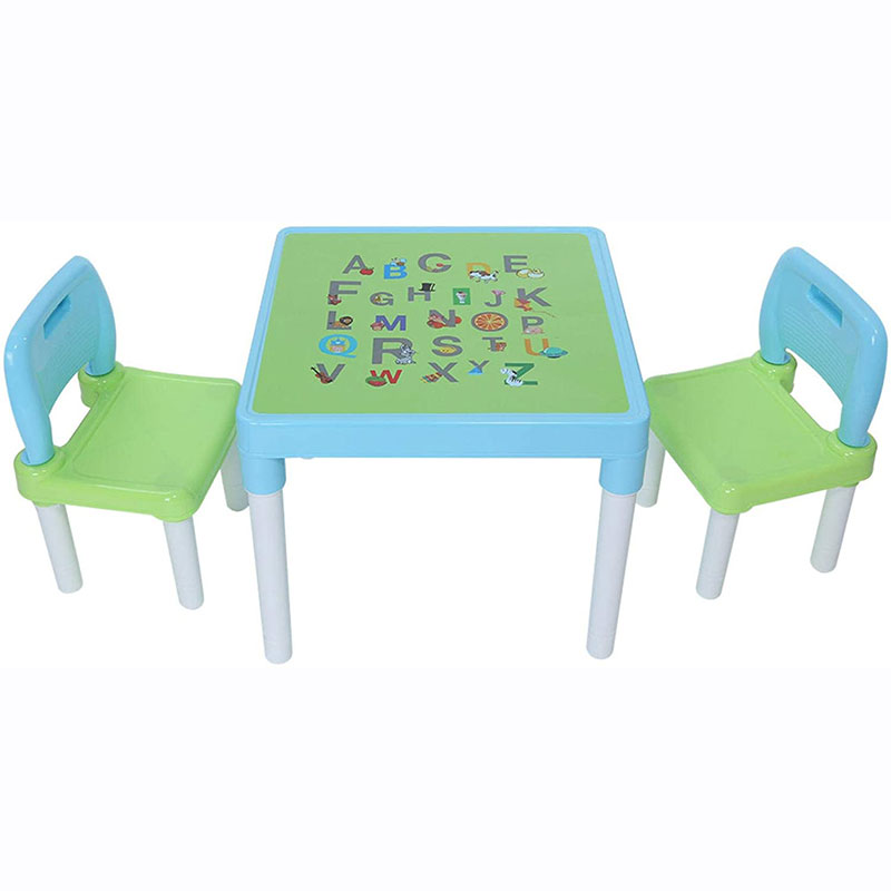 Household Kids Foldable Activity Table and 2 Chairs Set