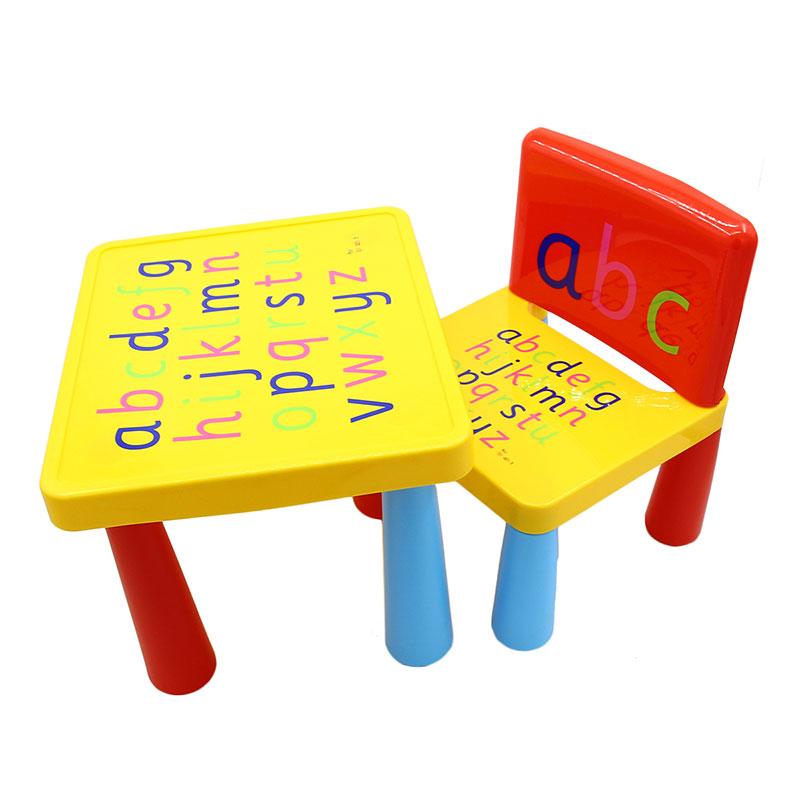 Household Plastic 2 In 1 Folding Kids Activity Table Set