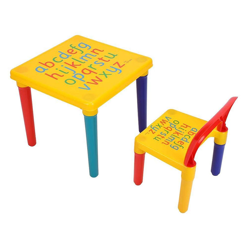 Household Plastic Folding Children Table And Chair Set