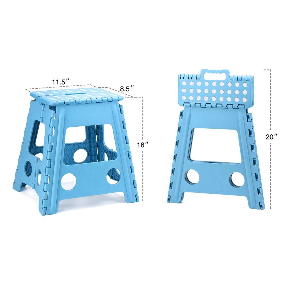 Plastic household 16'' inch height folding stool