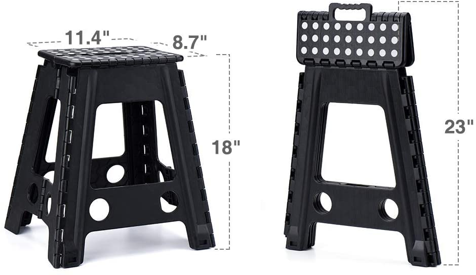 Plastic household 18 inches non slip Stepping stool