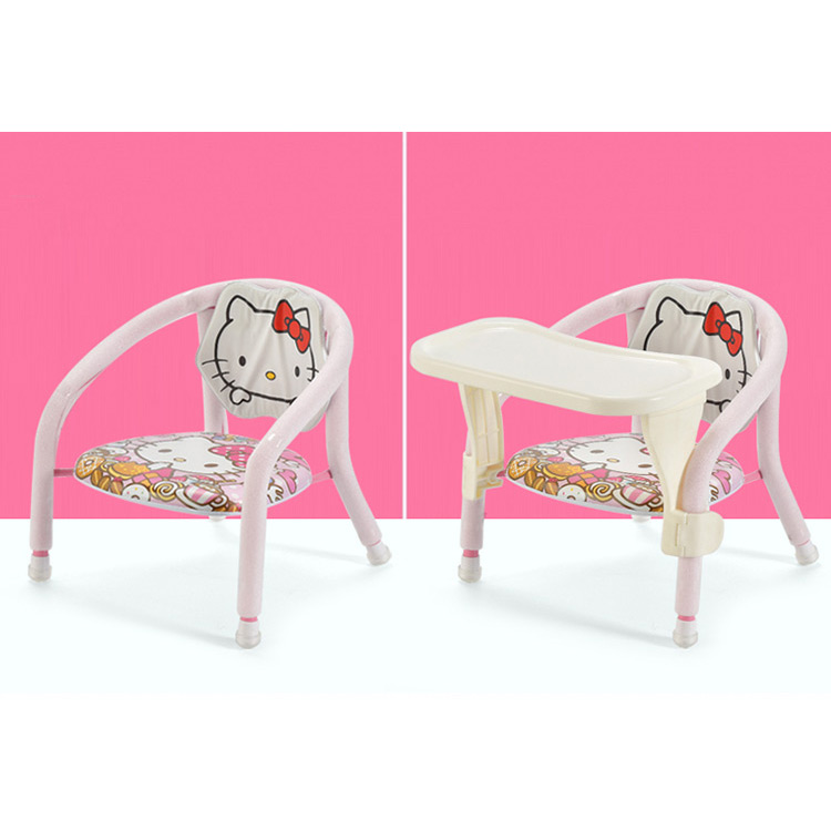 Waterproof Soft Cushion Toddlers Feeding Chair With Removable Dining Plate