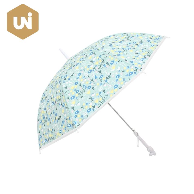 Fiberglass Long Automatic Children Umbrella