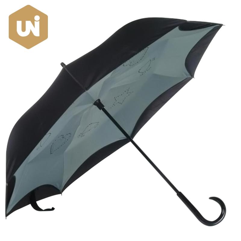 Inverted Umbrella Double Layer Reverse Windproof