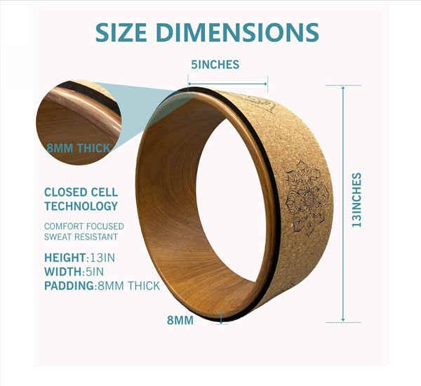Wood grain inner wheel and cork skin.