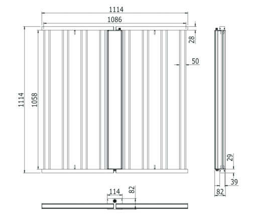 8 Bars Vertical Farming Grow Light 640W