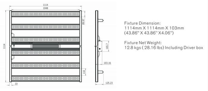 680W Indoor Grow Light mit Samsung LM301B