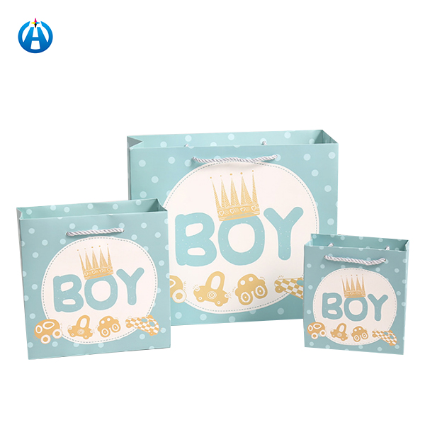 Cute Pink Blue Paper Boxes Boy Girl Baptism Baby Shower Decoration Kid Favors Sweet Birthday Party Gift Bag